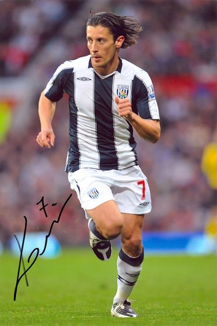 Robert Koren, West Brom & Slovenia, signed 12x8 inch photo.